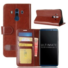 For Huawei Mate 10 Porsche Design & Mate 10 Pro Crazy Horse Texture Horizontal Flip Leather Case with Holder & Card Slots & Wallet(Brown) - intl
