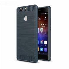 untuk Huawei P9 Plus Case Armor Rugged Yang Ramping Shockproof Hybrid Karet Lembut Silicone Kasus Telepon Cover untuk Huawei Ascend P9 PLUS (Biru) -Intl