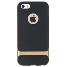 untuk IPhone 5/5 S/5E Case Silicone ROCK Brand PC + TPU Neo Hybrid Tahan Lama Slim Armor untuk Apple untuk IPhone 5/5 S/5E Cover Case (Warna: Emas)