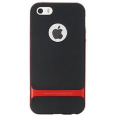 untuk IPhone 5/5 S/5E Case Silicone ROCK Brand PC + TPU Neo Hybrid Tahan Lama Slim Armor untuk Apple untuk IPhone 5/5 S/5E Cover Case (Warna: Merah)