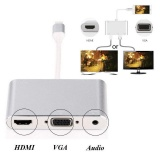 Jual Untuk Iphone 5 6 6 S 7 7 Plus Lightning To Av Tv Hdmi Vga Audio Video Kabel Adaptor Intl Branded Original