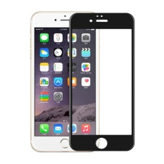 untuk IPhone 6/6 S 0.3mm 2.5D Carbon Fiber Tempered Glass Full Screen Protector (Tepi Busur) -hitam-Intl