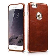untuk IPhone 6/6 S Case, Icarercase Vintage Classic Series] Mewah Kasus Kulit Asli Asli Asli Back Cover dengan [Ultra Slim] untuk Apple IPhone 6/iPhone 6 S Case 4.7 Inch (Brown) -Intl