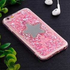 untuk IPhone 6 dan 6 S Pola Bintang Lima TPU Pelindung Kembali Tudung Case-Intl