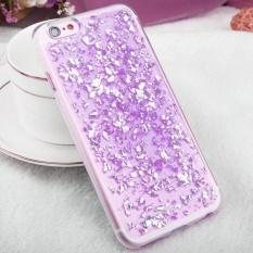 untuk IPhone 6 Plus dan 6 S Plus Tersebar Platinum Pola TPU Pelindung Case (Ungu)-Intl