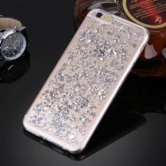 untuk IPhone 6 Plus dan 6 S Plus Tersebar Platinum Pola TPU Pelindung Case (Perak)-Intl