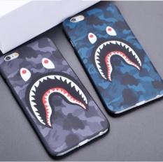 (Untuk IPhone 6/6 S) Cool Shark CAMO Kamuflase Bape Hard Case Cover untuk IPhone 5 5 S 6 6 S Plus 7 7 Plus