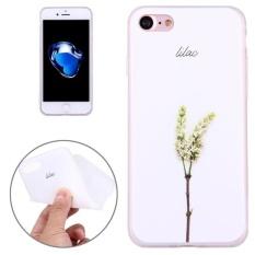 Untuk iPhone 7 Timbul Osmanthus Pola Pelindung TPU Lunak Penutup Case-Intl