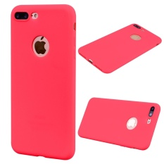 Untuk iPhone 7 Plus 5.5 Inch Anti Sidik Jari Frosted TPU Ponsel Cover-Merah-