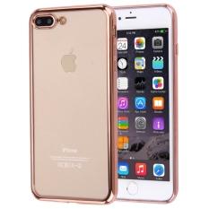 untuk I Phone 7 Plus Elektroplating Transparan Lembut TPU Pelindung Cover Case, Kecil Kuantitas Dianjurkan Sebelum IPhone 7 Plus Launching (Rose Gold)