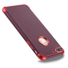 untuk IPhone 8 Plus dan 7 Plus Elektroplating TPU Pelindung Kembali Tudung Case (Merah)-Intl