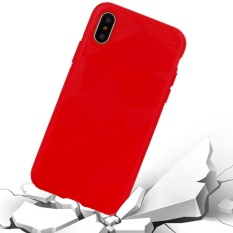 Untuk iPhone 8 Tpu Pelindung Penutup Belakang Case, Kecil Kuantitas Dianjurkan Sebelum iPhone 8 Launching (Merah)-Intl