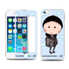 Diskon Besaruntuk Iphone 5 5 S Warna Kaca Film Depan Dan Belakang Angry Tubuh Pelindung Layar Penuh Untuk Iphone 5 5 S Kaca Film Kartun