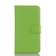 For Lenovo A3690 Flip Leather with Deluxe Credit Card Flip cover case phone case(Green) - intl