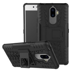 For Lenovo K8 Note Hyun Pattern Dual Layer Shockproof Kickstand Hybrid Armor 2 In 1 Cover (Black) - intl