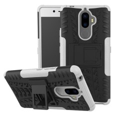 For Lenovo K8 Note Hyun Pattern Dual Layer Shockproof Kickstand Hybrid Armor 2 In 1 Cover (White) - intl