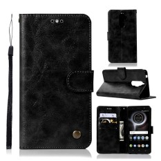 For Lenovo K8 Note Vintage Case PU Leather Magnetic Flip Stand Wallet Cover with Card Slots and Hand Strap - intl