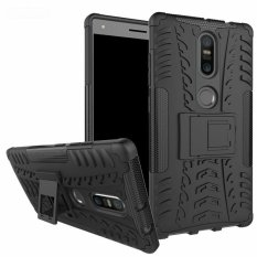 untuk Lenovo PhaB 2 Plus Case Heavy Duty Armor Tahan Guncangan Kasar Silicone Karet Hard Back Phone Case Cover untuk LENOVO Phab2 Plus (Hitam) -Intl