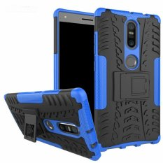 untuk Lenovo PhaB 2 Plus Case Heavy Duty Armor Tahan Guncangan Kasar Silicone Karet Hard Back Phone Case Cover untuk LENOVO Phab2 Plus (Biru) -Intl