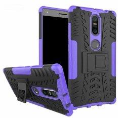untuk Lenovo PhaB 2 Plus Case Heavy Duty Armor Tahan Guncangan Kasar Silicone Karet Hard Back Phone Case Cover untuk LENOVO Phab2 Plus (Ungu) -Intl