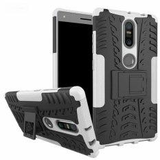 untuk Lenovo PhaB 2 Plus Case Heavy Duty Armor Tahan Guncangan Kasar Silicone Karet Hard Back Phone Case Cover untuk LENOVO Phab2 Plus (Putih) -Intl