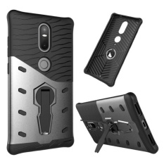 For Lenovo Phab2 Plus Shock-Resistant 360 Degree Spin Sniper Hybrid Case TPU + PC Combination Case With Holder(Black) - intl