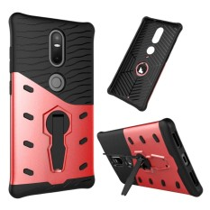 For Lenovo Phab2 Plus Shock-Resistant 360 Degree Spin Sniper Hybrid Case TPU + PC Combination Case with Holder(Red) - intl