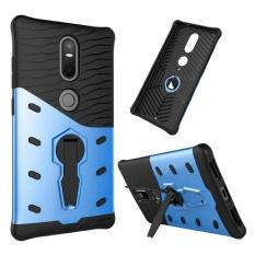 untuk Lenovo Phab2 Plus Shock-Resistant 360 Derajat Spin Sniper Hibrida Case TPU + PC Kombinasi Case dengan Pemegang (biru) -Intl