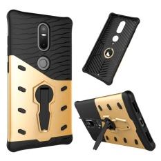 untuk Lenovo Phab2 Plus Shock-Resistant 360 Derajat Spin Sniper Hibrida Case TPU + PC Kombinasi Case dengan Pemegang (emas) -Intl