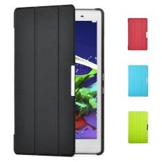 untuk Lenovo TAB 2 A8-50 Smart Case-Ultra-Slim dan Ultra-light PU Kulit Folio Case Stand Cover untuk Lenovo TAB 2 A8-50 Tablet-dengan Magnetic-Internasional
