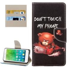untuk Lenovo VIBE C2/C2 Power Little Bear Pola Case Kulit Horisontal Flip dengan Pemegang dan Slot Kartu dan Dompet-Intl