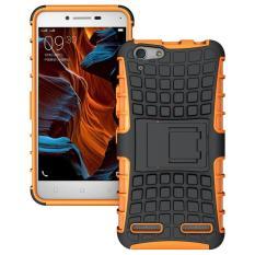 untuk Lenovo VIBE K5 Case K5 Plus Lemon 3 K32C36 Heavy Duty Phone Cover Hybrid Shockproof Hard Armor Rugged Karet Stand Coque (Orange) -Intl