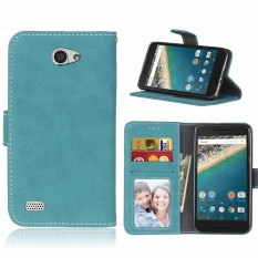 untuk LG Bello 2 Case Dompet Kulit Phone Case untuk LG Bello 2 Flip Cover Frosted Pemegang Kartu untuk LG Max X155 Bello II Case-Intl