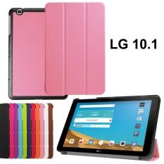 untuk LG G PAD X 10.1 Pink Case, LG Pad II 10.1 Tabel Kasus, LG G PAD 2 10.1 Kasus, LG G PAD X 10.1 Ultra Slim Premium PU Leather Folding Case untuk LG G PAD X 10.1 Kulit- Pink-Intl