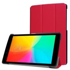 untuk LG G PAD X 8.0/G Pad III 8.0 Kasus, CLOUDSEA Multidimensional Tri-fold Ultra Slim Stand Leather Back Case Cover untuk untuk LG G PAD X 8.0 (T-mobile V521WG) /G Pad III 8.0 V525 8-Inch Tablet (Merah)-Intl