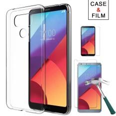 Untuk LG G6 Case, kaca Melunakkan Layar Pelindung Film + Ultra Tipis Bening TPU Lembut Belakang Telepon Case-Internasional