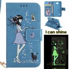 untuk LG K3 2017 Case Cover-Gaya Busana Klasik Dompet Flip Stand Noctilucent PU Kulit Phone Case-Intl