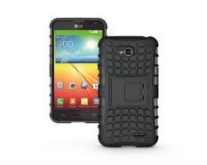 untuk LG L70 Case D320 D325 MS323 Heavy Duty Phone Cover untuk LG L65 D285 D280 Hybrid Shockproof Hard Armor Karet Kasar Coque (Hitam) -Intl
