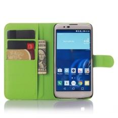untuk LG M2/LG K10 Flip Kulit dengan Deluxe Kartu Kredit Flip Cover Case Ponsel Case (Hijau) -Intl