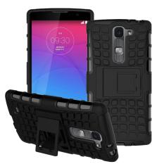 untuk LG Magna Case G4c H502F H525N H500F H522Y Heavy Duty Armor Tahan Guncangan Hibrida Hard Silikon Karet Cover untuk LG G4 Mini (Hitam) -Intl
