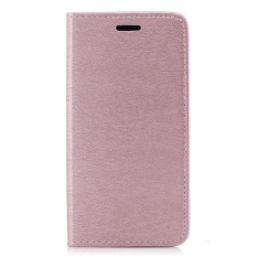 untuk LG Q6 Bark Grain Leather Case Penutup Magnetik Flip Stand Cover-Intl