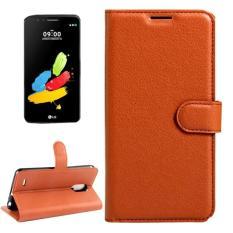 untuk LG Stylus 3 Lengkeng Tekstur Case Kulit Horisontal Flip dengan Magnetic Gesper dan Pemegang dan Slot Kartu dan Dompet (Brown) -Intl