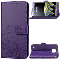 for LG X cam K580 Case Cover - Classic Fashion Style Wallet Flip Stand PU Leather Phone Case - intl