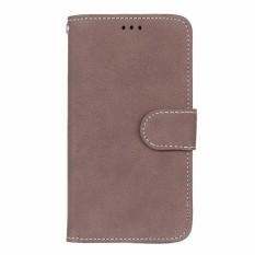 untuk LG XScreen Case Kulit Dompet Mobile Phone Case untuk LG X SCREEN K500 K500N Flip Cover Kulit Buram Bag Pemegang Kartu-Intl