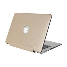 Untuk MacBook Pro 13.3 Inch Tekstur Sutra Apple Laptop United Pu Kasus Pelindung (Emas)-Internasional