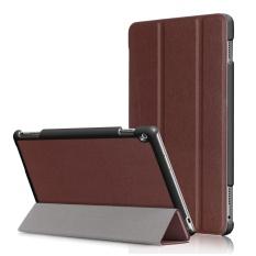 untuk MediaPad M3 Lite 10.0 Kasus, Ultra Slim Case + PU Kulit Smart Penutup Stand Auto Sleep/Wake untuk Huawei Meja M3 Lite 10.1 Inch, Brown-Intl