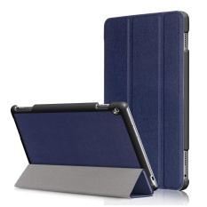 for Mediapad M3 Lite 10.0 Case, Ultra Slim Case + PU Leather Smart Cover Stand Auto Sleep/Wake for Huawei Table M3 Lite 10.1 inch, Dark Blue - intl