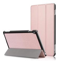 untuk MediaPad M3 Lite 10.0 Kasus, Ultra Slim Case + PU Kulit Smart Penutup Stand Auto Sleep/Wake untuk Huawei Meja M3 Lite 10.1 Inch, Rose Gold-Intl