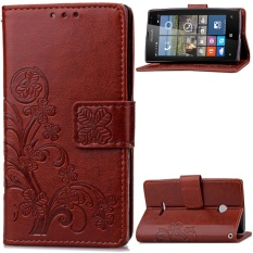 for Microsoft Lumia 532 Case Cover - Classic Fashion Style Wallet Flip Stand PU Leather Phone Case - intl
