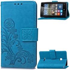 untuk Microsoft Lumia 532 Case Cover-Gaya Busana Klasik Dompet Flip Stand PU Kulit Phone Case-Intl